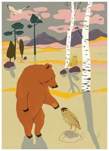 for my art collection. / forrest poster bear / studio morran