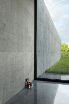 Concrete wall indoor/outdoor La Shed Architecture, St Pierre, Concrete Wall, Indoor Outdoor, New Homes, Sidewalk, Photos, Maxime, House