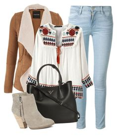 """That time of the year!"" by nataliac ❤ liked on Polyvore featuring Frame Denim, maurices, Prada and Sole Society"