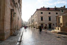 Stradun, the main thoroughfare through Dubrovnik, Croatia | heneedsfood.com