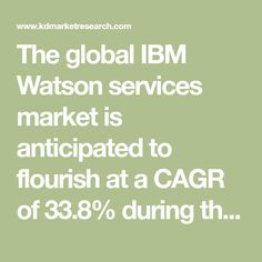The global IBM Watson services market is anticipated to flourish at a CAGR of 33.8% during the forecast period