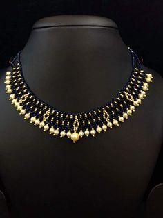3gm black bead chain