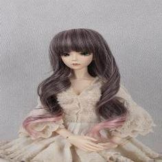 [ 19% OFF ] Bjd/sd 1/3 (Head Size:22-24Cm)Doll Wigs Long Pear Volume Hair Black And Purple Color Mixing(Excluding Dolls)
