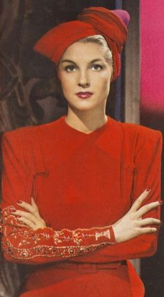 Red 1940's Fashion. <3