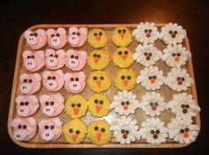 Farm themed cupcakes