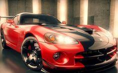 赤いダッジバイパー 車 高解像度で壁紙