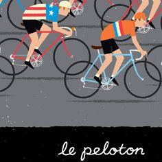 detail from our Peloton print