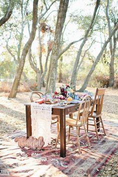 best entertaining design blogs outdoor boho table setting