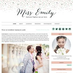 Premade Blogger Template Miss Emily Blogger by ShinyMagic, $30.00 premade template,premade blogger template,blogspot template, girly blogspot template