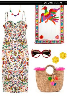 Otomi print is Hawt stuff! Mexican Fashion, Mexican Outfit, Mexican Style, Modern Fashion, Vintage Fashion, Folklore, Mexican Textiles, Mexican Embroidery, Shower Dresses