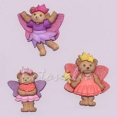 Disney Tinkerbell Dress It Up novedad Hada Craft Botones Adornos de 3 piezas