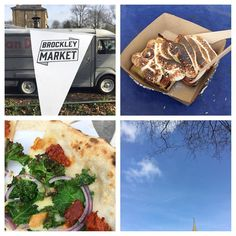 SPRING IS HERE - exploring hidden corners of London with @ajayvisions and ended up @brockleymarket for the first time. Always great to see Eddie from @waffleonmarkets and try the Brockley Special of lemon meringue waffle (see my stories). Then had the best pizza @vandough with the Brockley Special of kale nduja and onion. Blue skies great friends and I am happy. Always good for a treat day too. #londonfoodie #londonlife #eeeeeats #urbankitcheneats #foodlover #foodblogger #foodpics…