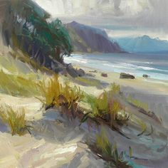 Richard Robinson Gallery - Oil painting of Mangawhai Beach, New Zealand.
