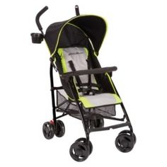 The Eddie Bauer Portage Stroller is an ultra-compact folding stroller features an adjustable 5-point safety harness, comfort-grip handle, a canopy; child grab bar; front swivel wheels,1 adult cup holder and a storage basket beneath the seat.