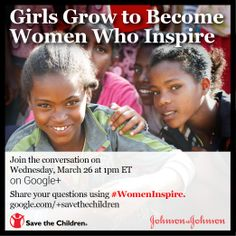 We work to make sure girls have the tools they need to become empowered women who inspire a better future. Join the conversation on Google+ with us and Johnson & Johnson[tag]: Wednesday, 3/26 at 1pm ET http://goo.gl/E5p6zO