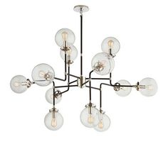 Ah... the ultimate luxury: a #chandelier in the #bathroom. You can mix it up with this bubble chandelier from Circa that brings together luxury, modernism and traditional.