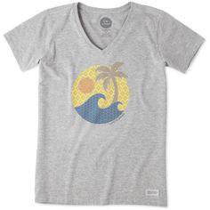 """<p>It all starts with a great tee and this Short Sleeve Crusher Vee is the Crusher you know and love with a v-neck collar. Easy to wear and perfect to layer, this tee is garment washed for everyday softness and has a slight waist shape and ribbing at the neck. You'll love its beautifully printed graphic and """"Do what you love. Love what you do.®"""" locker patch.</p><ul><li>Classic Fit</li><li>Barely skims the body for a flat..."""