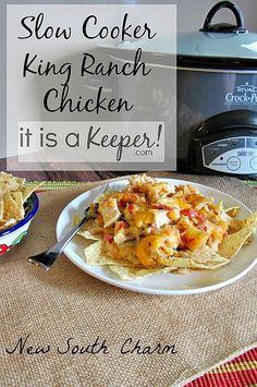 Slow Cooker King Ranch Chicken is one of the best easy crock pot recipes.