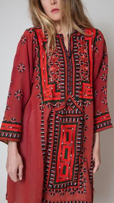 Wine Baluch Dress ~ Tavin Boutique