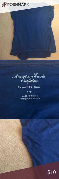 AE favorite tee cobalt blue Perfect condition! Only worn a handful of times! I have several tees this color so I'm downsizing this one! Perfect for spring and summer! American Eagle Outfitters Tops Tees - Short Sleeve