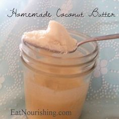 Move over peanut butter! Coconut butter is simple to make and is rich and creamy. Sure, you could buy it, but it's a lot more expensive that way. You can use coconut butter as a substitute for just about any recipe calling for a nut butter and it can also be used as a dairy-free substitute for butter in baking. We like it as a dip for fruit or spread on bread with some preserves. Can you say CBJ sandwich?! Mmmm. Be careful this stuff is addicting when eating it by the spoonful.