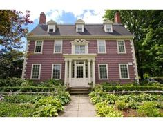 I love this Brookline home. Antique Furniture, Modern Furniture, New England Style Homes, Historic New England, Washington Street, Victorian, Windows, Mansions, Antiques