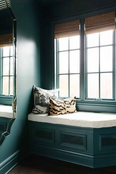 Small Space, Big Design - The Bold Closet Trend (Plus, Sara Reveals Her Master Closet Wallpaper) - Emily Henderson #mastercloset #dreamcloset #masterbedroom Closet Wallpaper, Ikea Pax Closet, Closet Storage, Narrow Rooms, Woven Wood Shades, Murphy Bed Ikea, Window Benches, Window Seats, Radiator Cover