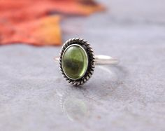 Peridot ring Olive green ring Bezel Ring by Studio1980 on Etsy    Bugs birthstone size 6