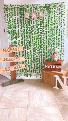 Classic Winnie the Pooh photo booth wall/backdrop. Classic Winnie the Pooh photo booth wall/backdrop. Classic Winnie the Pooh photo booth wall. Hundred Acre Wood Party. Baby Boy 1st Birthday Party, Baby First Birthday, Baby Party, Baby Shower Parties, Baby Shower Themes, Baby Boy Shower, Birthday Party Themes, Shower Ideas, Birthday Ideas