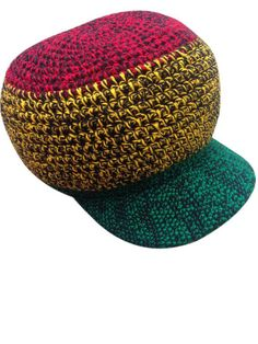 757ab3e4ac1 wicked Rastafarian hand crocheted hat RLW256