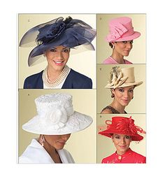 WOMENS HAT PATTERN Millinery Fascinator Evening Cocktail Sunday Church Hats Butterick 5004 One Size UNCuT Accessories Womens Sewing Patterns by DesignRewindFashions on Etsy