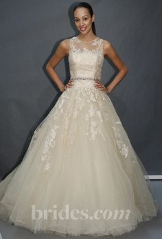 Brides.com: Enzoani - 2013. Gown by Enzoani  See more Enzoani wedding dresses in our gallery.