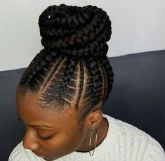 Hair braids Flawless braided bun by - blackhairinformat. Flawless braided bun by - blackhairinformat. Braids For Kids, Girls Braids, My Hairstyle, Bun Hairstyles, Protective Hairstyles, Protective Styles, Wedding Hairstyles, Dreadlock Hairstyles, Wedding Updo