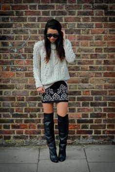 11 chic ways to wear a skirt with boots this fall!