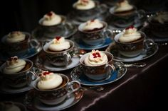 Cupcakes in teacups - perfect for a tea party wedding