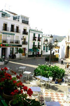 Competa, town square
