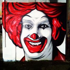 Wall I painted last nite.. Vampire Ronald / Unhappy Meal- thanks to @denialart  [Instagrammed by benfrostisdead]