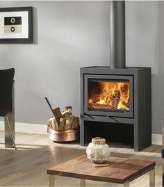 Poêle à bois Dik Geurts - Vidar Medium - Foyers design Gas Wood Burner, Wood Burner Fireplace, Modern Fireplace, Fireplace Design, Fireplace Ideas, Modern Wood Burning Stoves, Log Burning Stoves, The Farm, Foyers