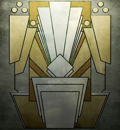 Deco shape 8 by Spacefriend-T on DeviantArt Motif Art Deco, Art Deco Pattern, Art Deco Design, Art Deco Stil, Art Deco Home, Art Nouveau, 1920s Art, Bauhaus, Chrysler Building