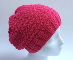 A personal favorite from my Etsy shop https://www.etsy.com/ca/listing/463310492/handmade-slouchy-hat-raspberry-slouchy
