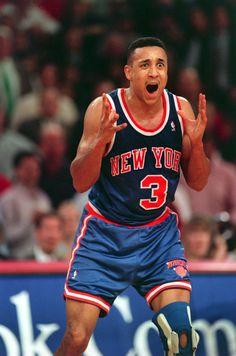 Basketball Jones, Love And Basketball, Sports Basketball, Basketball Players, Basketball Leagues, Basketball Legends, New York Knicks, John Starks, Nba Stars