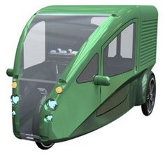 Truckit - a tiny little recumbent-bicycle deal with an electric motor — it's called a velomobile