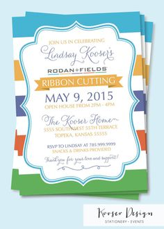 Rodan and Fields Big Business Launch Party Invitations - BBL #RodanandFields