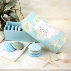 A pack of sand dollar soaps so your guests can feel like mermaids too.
