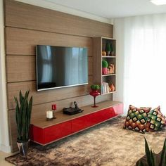 Resultado de imagem para apartamento decorado pequeno com parede pintada de verde