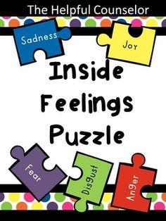 Looking for a way to introduce feelings? The characters of the movie Inside Out provide a fun and easy way to help kids identify different feelings.Inside Feeling Puzzle covers the 5 basic emotions in Inside out. A link to 20 Inside Out video clips is included.