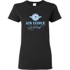 #Womens #TShirt The sky is the limit for #AirForce girlfriend. Designed by Dina Fitzgerald.  www.inktastic.com