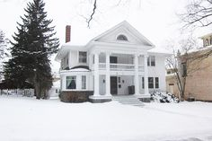 Step back in time! This grand home is situated among similar Victorian era homes. Built in 1911, it has all the things you would expect, like original oak case work, open staircase, hardwood floors, leaded glass and fireplace. 4 bedrooms, 2 full baths and 1 half bath. A finished third floor rec room assure plenty of space. See this beauty today!