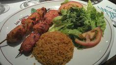 Chich Taouk (Brochettes de poulet marinées à l'ail et au citron)  / Les cèdres du liban - Paris 15          #libanais (avis complet sur le blog)