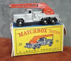 1961 Lesney Matchbox Toy, 30B Magirus-Deutz 6-wheel Crane Truck W/Original Box - http://www.matchbox-lesney.com/?p=17382